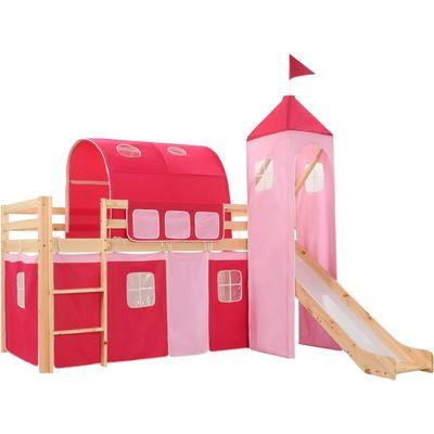 Ovaj dječji krevet na kat s temom princeze uistinu će privlačiti poglede u spavaćoj sobi vašeg djeteta. Drveni krevet ima čvrstu konstrukciju i isporučuje se s podnicama, toboganom, ljestvama i šatorom s temom princeze, bočnim navlakama i...