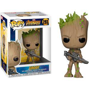 POP figure Marvel Avengers Infinity War Teen Groot with Gun
