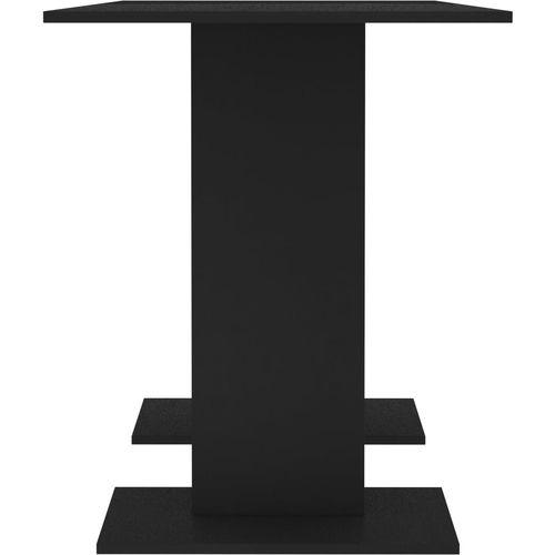 Blagovaonski stol crni 110 x 60 x 75 cm od iverice slika 5
