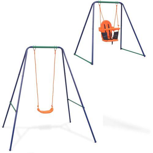 2-u-1 obična ljuljačka i ljuljačka za malu djecu narančasta slika 10