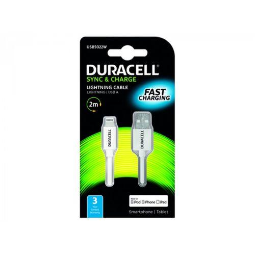 Duracell Kabel – Lightning to USB 2m - White slika 1