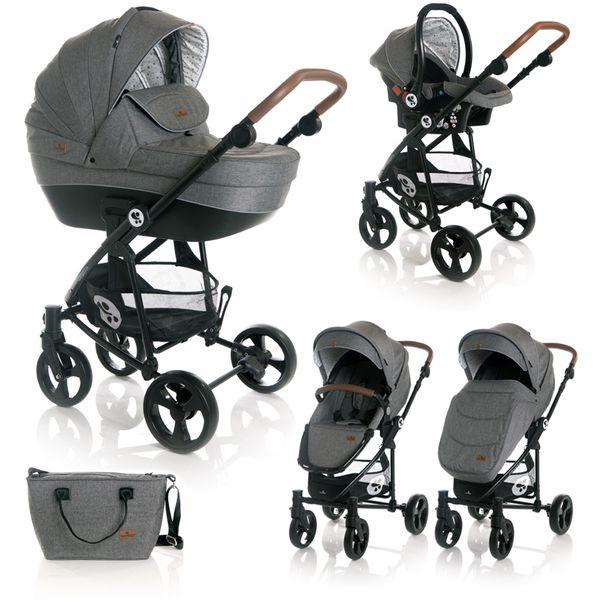 Ovaj set pruža sve što Vam treba za sretan početak majčinstva: udobna kolica, košaru za novorođenče, autosjedalicu s adapterima, torbu i zimsku navlaku. Promatrajte svoje novorođenče od prve šetnje jer kolica CRYSTA imaju opciju i košare za novorođenče i autosjedalice. Lako se sklapaju i rasklapaju, zauzimaju minimalno mjesta, a mogu se koristiti i od samog rođenja..