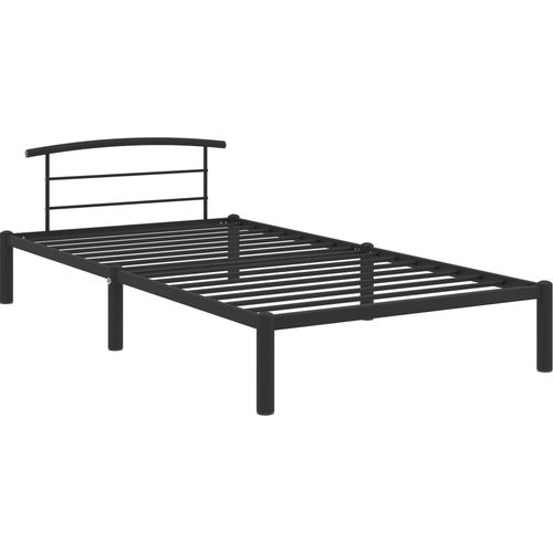 Okvir za krevet crni metalni 90 x 200 cm slika 2