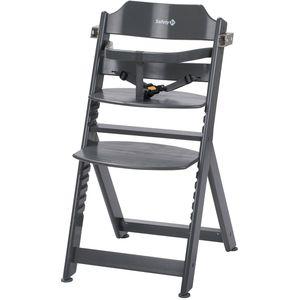 Safety 1st Timba je udobna drvena visoka stolica, koja se u potpunosti prilagođava vašem djetetu i jednostavno se prebacuje iz jedne pozicije u drugu te raste zajedno s djetetom od 6 mjeseci do dobi od 10 godina (max težina 30 kg). Zahvaljujući Timba sjedalici vrijeme hranjenja će postati zabavno, jer se i najmlađi mogu pridružiti odraslima za stolom. Zahvaljujući neutralnom dizajnu i boji, ova stolica za hranjenje uklapa se u svaki dom. Stolica dolazi sa pojasom za kopčanje, platoom za hranjenje, sjedalicom i podlogom za noge...