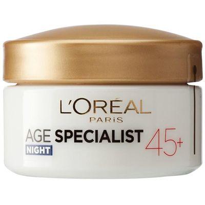 Noćna njega potiv bora. Nakon 45. godine bore se progresivno pojavljuju, koža gubi čvrstoću i konture gube definiciju. L'Oréal Paris AGE SPECIALIST – Noćna njega potiv bora 45+ namijenjena je specifičnim potrebama kože starije od 45 godina.UPORABA:...