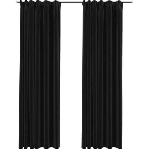 Zavjese za zamračivanje s kukama 2 kom antracit 140 x 245 cm slika 2