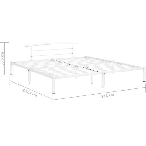 Okvir za krevet bijeli metalni 200 x 200 cm slika 7