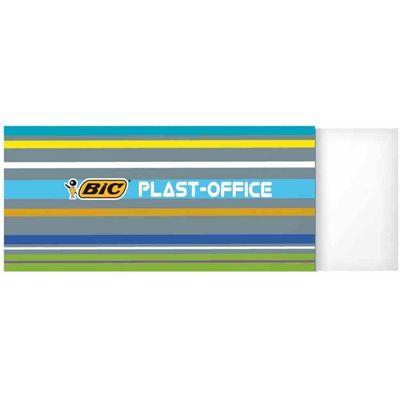 BIC Gumica Plastoffice - Gumica za brisanje, omotana papirom radi lakšeg rukovanja, pogodna za sve vrste papira