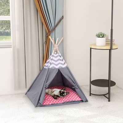 Ovaj šator tipi donosi veliku radost vašim mačkama i psima. Ovaj šator za kućne ljubimce, dimenzija 60 x 60 x 70 cm, ima okvir od masivne borovine, zbog čega je čvrst i stabilan na zemlji. Pokrov šatora napravljen je od jake breskvine kore koja je...