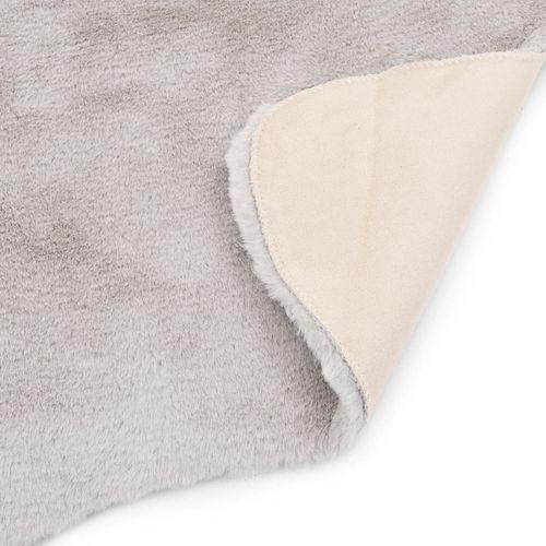 Tepih od umjetnog zečjeg krzna 65 x 95 cm sivi slika 7