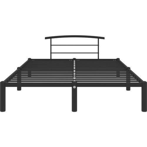 Okvir za krevet crni metalni 160 x 200 cm slika 3