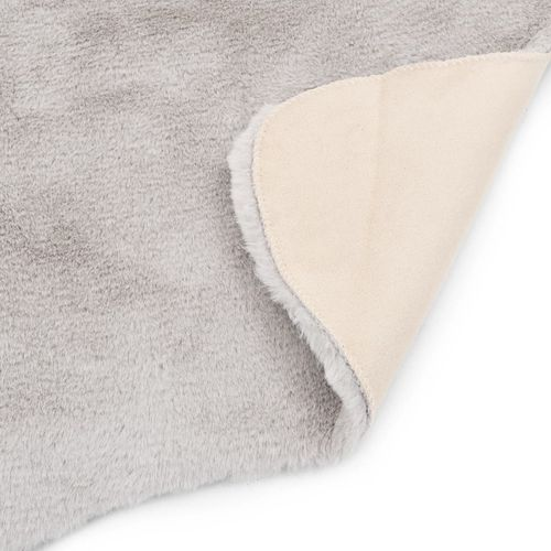 Tepih od umjetnog zečjeg krzna 65 x 95 cm sivi slika 4