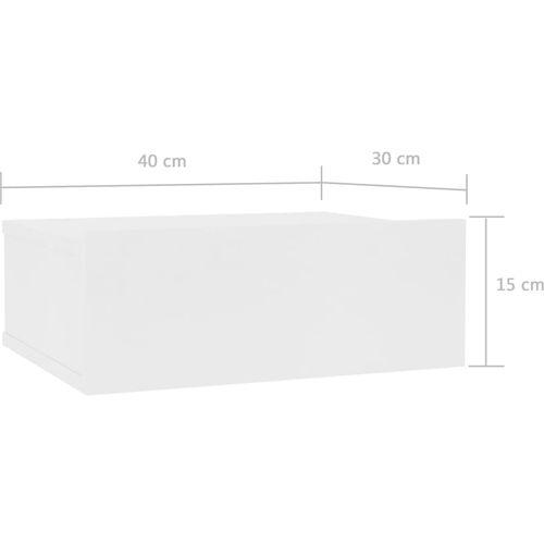 Viseći noćni ormarići 2 kom bijeli 40 x 30 x 15 cm od iverice slika 7
