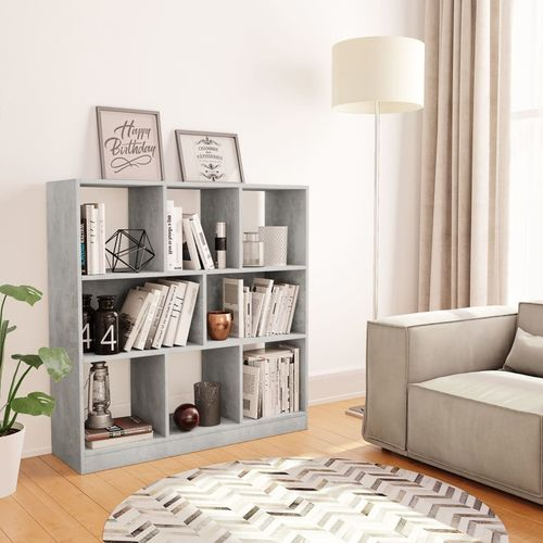 Ormarić za knjige boja betona 97,5 x 29,5 x 100 cm od iverice   slika 7