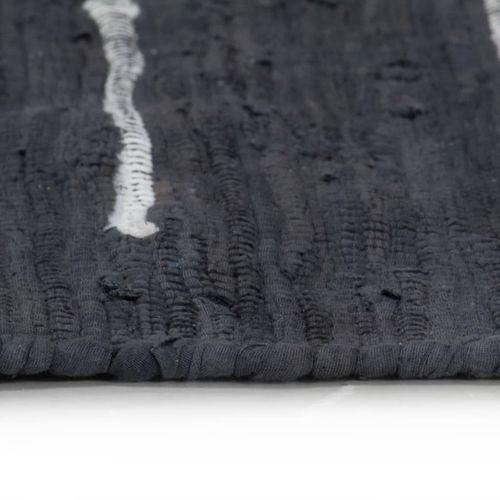 Ručno tkani tepih Chindi od pamuka 80 x 160 cm antracit slika 4