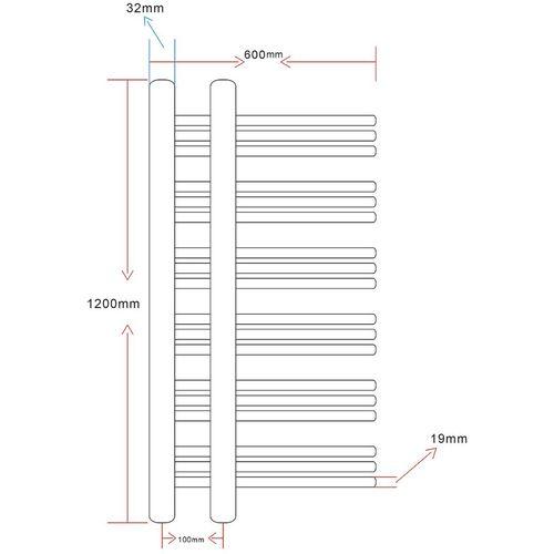 Kupaonski radijator za centralno grijanje u obliku slova E slika 20