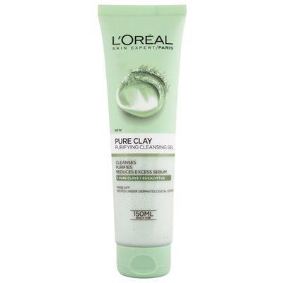 L'Oreal Paris Gel za umivanje Pure Clay Purifying 150 ml    GEL ZA PROČIŠĆAVANJE I MATIRANJE KOŽE    Koža se trenutno doima osvježenom i procišcenom. Nakon jednog tjedna upotrebe umanjen je sjaj na koži, koža je čišća i mekša.    Pure Clay GEL ZA...