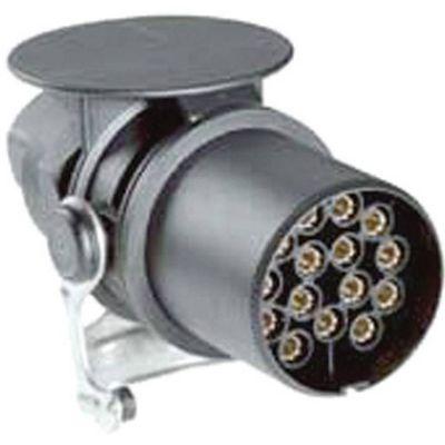 Čep s okrenutim kontaktom za lemljenje / stezanje i zaštitnom čahrom za prevrtanje za kabel Ø od 13 - 17 mm. Jednostavno rukovanje zahvaljujući ergonomskom dizajnu brave. Jednodijelni kontakti sprečavaju mikro prekide. Optimalno rasterećenje kabela kon...