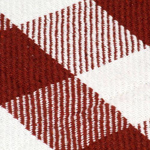 Pamučni pokrivač karirani 160 x 210 cm crvena boja kamena slika 3