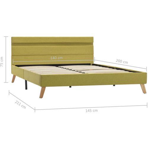 Okvir za krevet od tkanine s LED svjetlom zeleni 140 x 200 cm slika 25