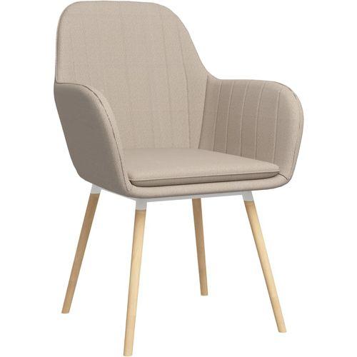 Blagovaonske stolice s naslonima za ruke 2 kom krem od tkanine slika 2