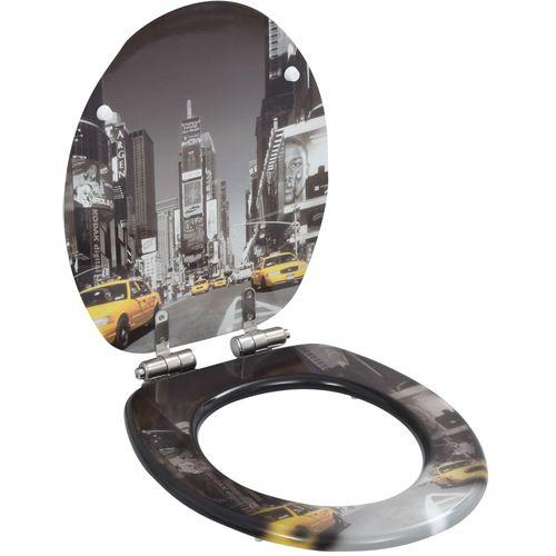 Toaletna daska s mekim zatvaranjem 2 kom MDF uzorak New Yorka slika 2