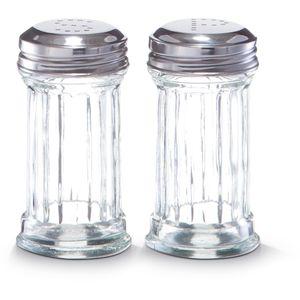 Praktični set za sol i papar  Materijal: staklo / nehrđajući čelik