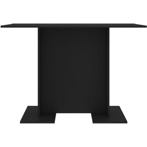 Blagovaonski stol crni 110 x 60 x 75 cm od iverice slika 13