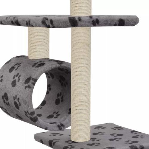 Penjalica za mačke sa stupovima za grebanje od sisala 260 cm siva s otiscima šapa  slika 5
