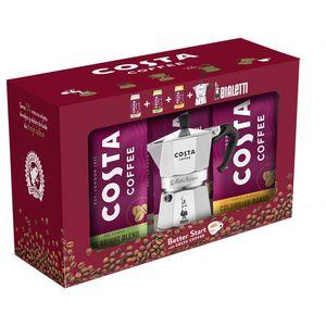 Poklon pakiranje Bialetti moka + 3 x 200 grama mljevene kave Costa