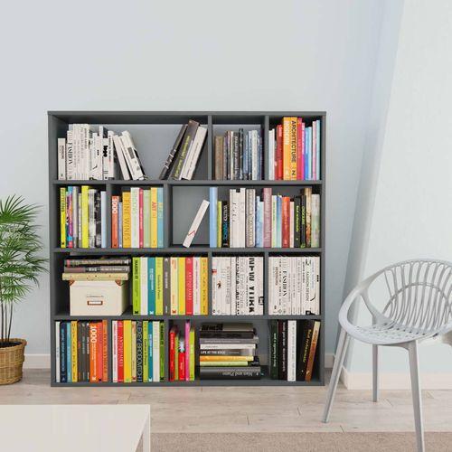 Sobna pregrada / ormarić za knjige siva 110x24x110 cm iverica slika 3