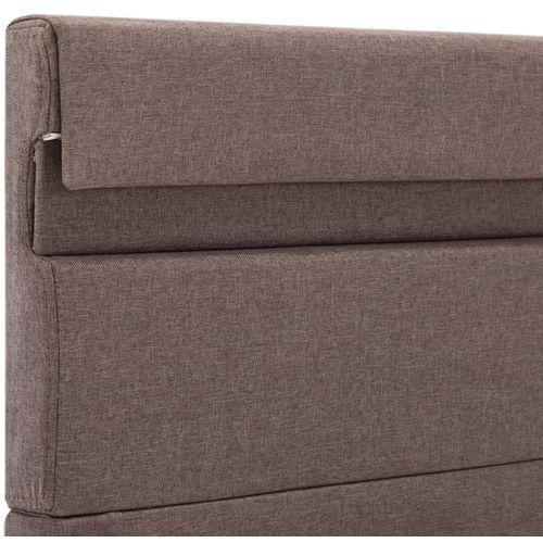 Okvir za krevet od tkanine s LED svjetlom bež 120 x 200 cm slika 11