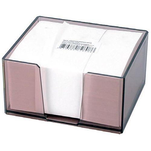 Stolna kocka s papirom 9,5x6,5x 5,7 cm, prozirna slika 1
