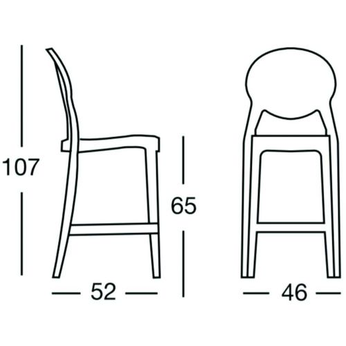 Dizajnerska barska stolica — by LUISA B. slika 2