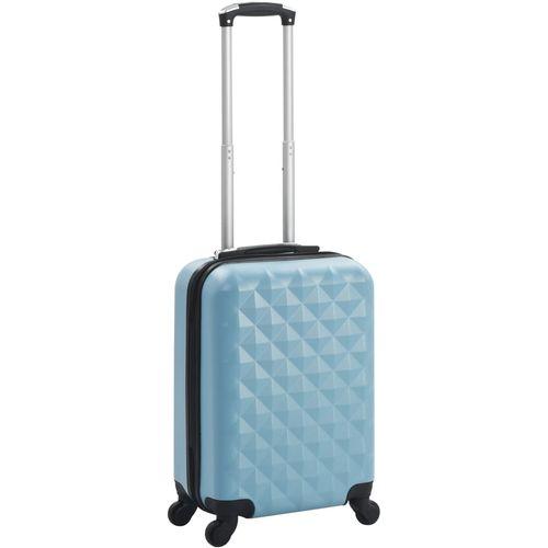 Čvrsti kovčeg s kotačima plavi ABS slika 1