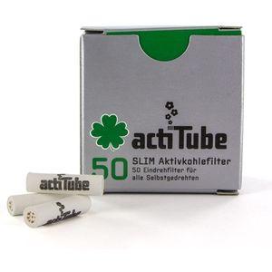 'actiTube' filteri SLIM s aktivnim ugljenom koji filtrira štetne tvari - 50 komada u pakiranju  SLIM verzija - idealna za motanje u king slim ili rolicu