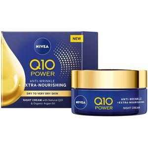 NIVEA® Q10 POWER IZNIMNO HRANJIVA noćna krema protiv bora sadrži koenzim Q10 koji je 100% IDENTIČAN onome u vašoj koži.
