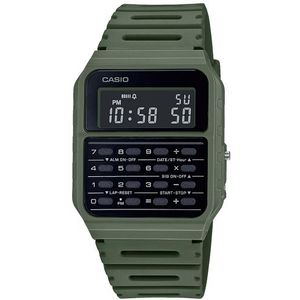 Casio COLLECTION ručni sat CA-53WF-3BEF je s razlogom jedan od najpopularnijih proizvoda iz CASIO kolekcije. Predivan ručni sat na kojem dominira zelena boja kućišta te crna boja brojčanika. Resin i zelena boja remena doista su odlična kombinacija. Ovaj prekrasan CASIO ručni sat pokreće quartz mehanizam.