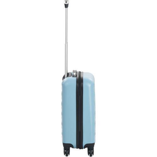 Čvrsti kovčeg s kotačima plavi ABS slika 3
