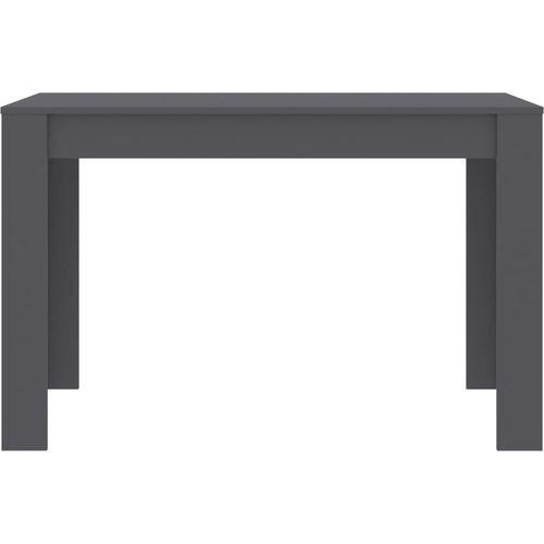 Blagovaonski stol sivi 120 x 60 x 76 cm od iverice slika 10
