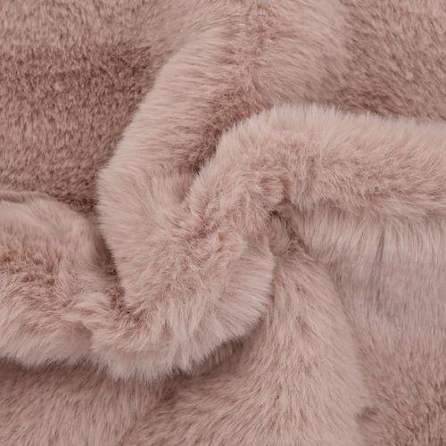 Tepih od umjetnog zečjeg krzna 65 x 95 cm blijedo ružičasti slika 10