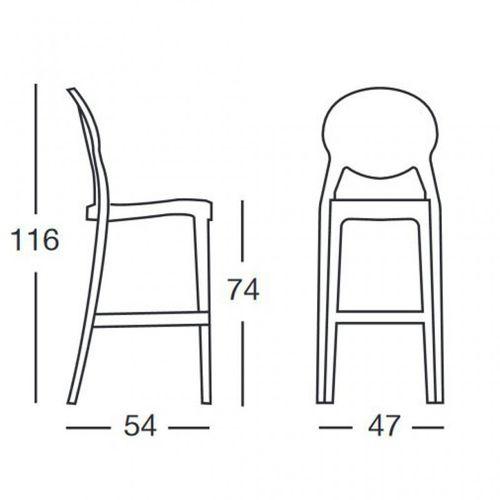 Dizajnerske barske stolice — by LUISA B. • 2 kom. slika 2