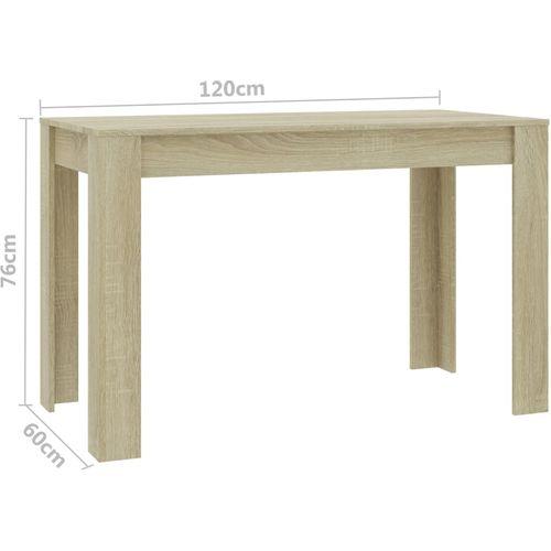 Blagovaonski stol boja hrasta sonome 120 x 60 x 76 cm iverica slika 6