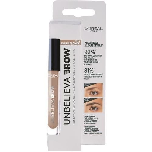 L'Oreal Paris Unbelieva Brow dugotrajni gel za obrve 103 Warm Blonde slika 2