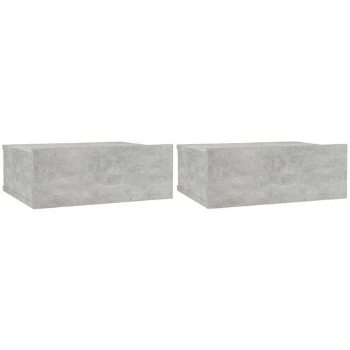 Viseći noćni ormarići 2 kom boja betona 40x30x15 cm od iverice slika 2