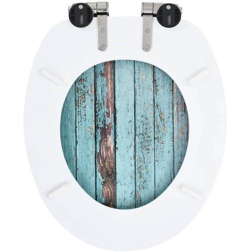 Toaletna daska s mekim zatvaranjem 2 kom MDF s uzorkom drva slika 12