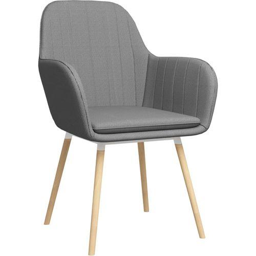 Blagovaonske stolice od tkanine 2 kom svjetlosive slika 2