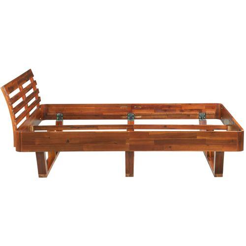 Okvir za krevet od masivnog bagremovog drva 160 x 200 cm slika 5