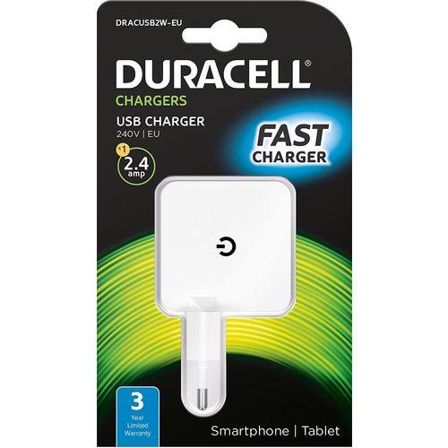 Duracell Punjač - Uni 1xUSB - 2.4A - White slika 1