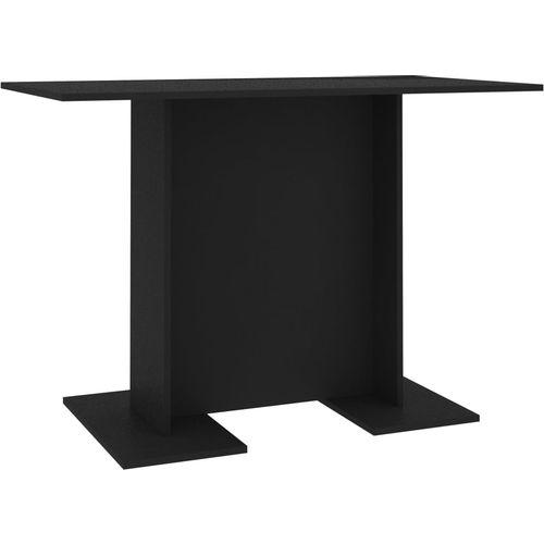 Blagovaonski stol crni 110 x 60 x 75 cm od iverice slika 2
